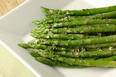 Asparagus with Dijon Vinaigrette #glutenfree #vegetable #asparagus