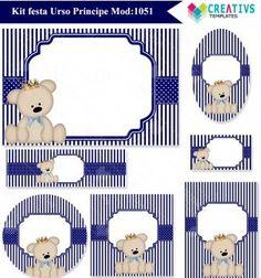 Festa Urso príncipe Azul marinho mod:1051