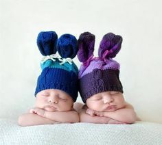 I once wrote to the photographer for the knit pattern for the hats, but she…