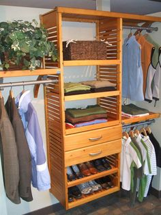 Superieur John Louis Home Honey Maple Closet Installation