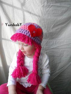 Valentine's Day Hat Cabbage Patch Hat Baby Girl Photo por YumbabY