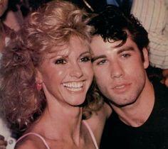 Olivia Newton John and John Travolta at the premiere of Grease, John Travolta, Grease 1978, Grease Movie, Movie Photo, Movie Stars, Movie Tv, Sandy And Danny, Actor, Film Noir