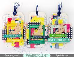 Terhi Koskinen: Hip Kit Club | Leftover tags | VIDEO Hello Design, Hip Kit Club, Journal Cards, Journaling, Scrapbooking, Christmas Ornaments, Tags, Holiday Decor, Blog