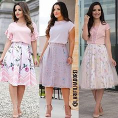 inspirational casual style looks. Modest Outfits, Classy Outfits, Skirt Outfits, Casual Dresses, Casual Outfits, Girls Dresses, Cute Outfits, Jw Fashion, Modest Fashion