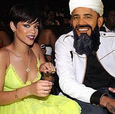 I'd never hit a woman... unless she hit me first, then it's 'game on,' bitch. Rihanna and B'Lack Osama