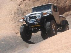 """Did you ever wonder what if Toyota actually brought back the classic Land Cruiser design and modernize it? Here is a perfect example of what Toyota could do. A FJ45 Truck body mated to a FZJ80 chassis with a 100 series 4.7L V8 motor with a 6"""" lift and 40"""" tires. A well known Land Cruiser guy named Gary did this conversion back in '06 and this FZJ45 will go anywhere and rides like a dream on the road. #ih8mud"""