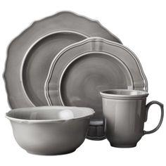 Threshold™ 16 Piece Wellsbridge Dinnerware Set - Charcoal