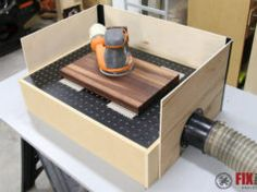 How to Build a DIY Downdraft Table Intarsia Woodworking, Woodworking Projects Diy, Custom Woodworking, Diy Wood Projects, Wood Crafts, Woodworking Classes, Woodworking Garage, Woodworking Jigsaw, Woodworking Quotes