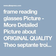 frame reading glasses Picture - More Detailed Picture about ORIGINAL QUALITY Theo septante trois eyeglasses frame myopia thick vintage black two color glasses Picture in Movie & TV costumes | Aliexpress.com | Alibaba Group