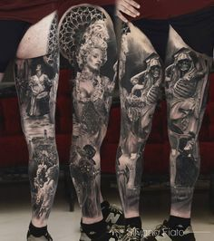 This b&g leg sleeve by Silvano Fiato is nothing short of mindblowing!