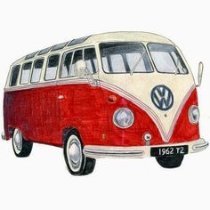 Items similar to Blue Volkswagen Camper - Limited edition archival print on Etsy