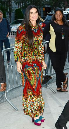 Demi Moore completely nailed the boho trend in a flowing 3cfb9df742bf2