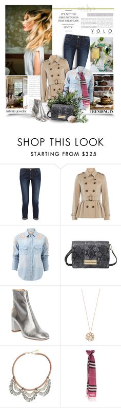 """""""It's Not The Circumstance That Create Joy.It's You"""" by thewondersoffashion ❤ liked on Polyvore featuring Frame Denim, Burberry, Haute Hippie, See by Chloé, Camilla Elphick, Ginette NY, Anton Heunis, chloe, PoppyDelevigne and framedenim"""