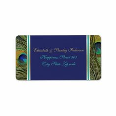 $$$ This is great for          Peacock feathers blue, aqua, gold wedding address label           Peacock feathers blue, aqua, gold wedding address label in each seller & make purchase online for cheap. Choose the best price and best promotion as you thing Secure Checkout you can trust Buy best...Cleck Hot Deals >>> http://www.zazzle.com/peacock_feathers_blue_aqua_gold_wedding_label-106852867518253909?rf=238627982471231924&zbar=1&tc=terrest