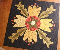 """For the last 9 months, I have been working on a very special quilt for a friend in California. I attached the final borders today and it""""s ready for quilting. This was my first attempt at Needle Turn Applique and I think I""""m hooked and I""""m already planning another quilt using this method.  There …"""