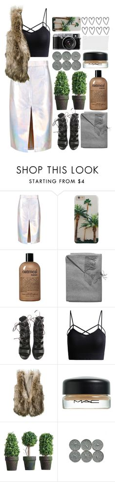 """// wavy"" by unicornskitkat ❤ liked on Polyvore featuring philosophy, Sofia Cashmere, Balmain, Forum and MAC Cosmetics"