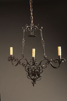 6 arm antique iron and crystal italian chandelier pinterest ornate french 3 light wrought iron antique chandelier with mounted horseman circa 1900 20 aloadofball Images