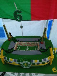 Festa Sporting C.P.,decoração Sporting,Bolo Estadio Sporting