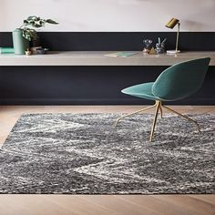 Romo Itsuki Charcoal Rug An intriguing display of pattern, this large scale chevron combines intricate textures with stylish design. Romo Fabrics, Custom Rugs, Rug Making, Persian Rug, Chevron, Charcoal, Colours, Contemporary