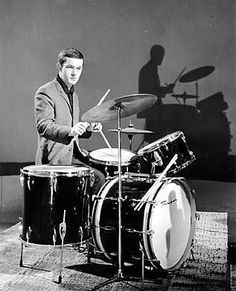 Brian Bennett (born: February Palmers Green, United Kingdom) is a British drummer, pianist, composer, arranger and record producer. He is known as the drummer of the band The Shadows. Hank Marvin, Mark Knopfler, Drum Kits, Music Albums, Record Producer, Music Stuff, Jukebox, Rock N Roll, Drums