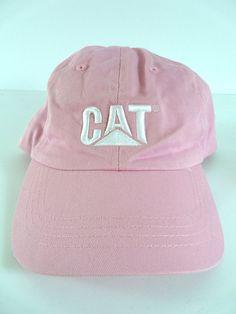 Womens Caterpillar Cat Pink Baseball Cap Hat One Size #Caterpillar #BaseballCap #Casual