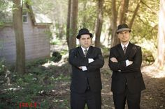 Groom's suit (right) and best man's suit both designed by moi on tailor4less.com, ties are vintage oscar de la renta and hats chosen by the boys themselves.