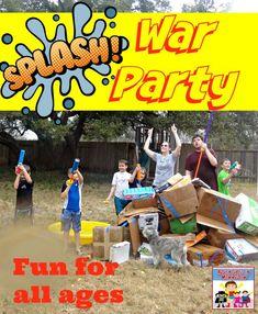 Splash War water party | Fun and easy backyard water fun