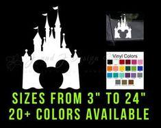 Disney Vinyl Decals Disney Theme, Custom Vinyl, Vinyl Decals, Mickey Mouse, Unique Jewelry, Handmade Gifts, Vintage, Color, Shop