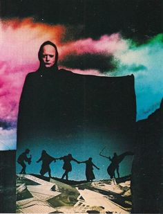 And the forest began to sing. The Seventh Seal, Ingmar Bergman Akira, Edward Moran, The Seventh Seal, Ingmar Bergman, Psy Art, New Wave, Pulp, Film Stills, Collage Art