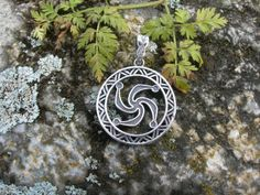 Rod Symbol pendant. Slavic Svastica. Handmade Witch pagan talisman. Witchcraft Viking jewelry. Scandinavian nordic magic amulet.