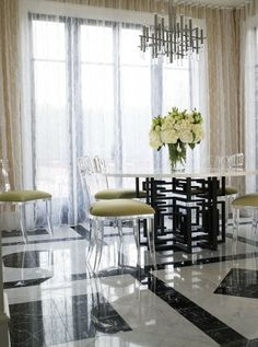 lucite dining room