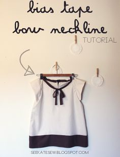 bias tape bow neckline tutorial