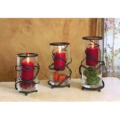 Vine Floating Candleholder, Set of Three
