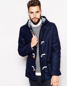 $224, Barneys Originals Barneys Wool Duffle Coat. Sold by Asos. Click for more info: http://lookastic.com/men/shop_items/155805/redirect