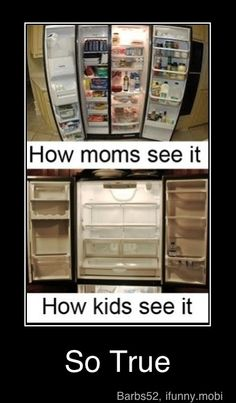 I swear this is exactly how the fridge is here...