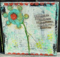 Original Mixed Media Painting She Is Clothed by BlueLilyDesign1, $18.00