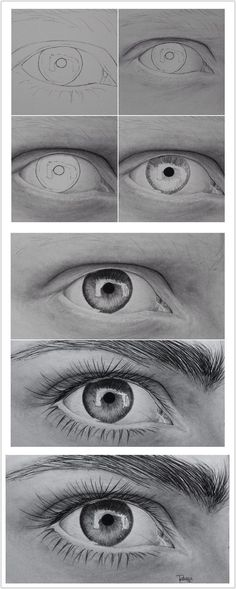The Secrets Of Drawing Realistic Pencil Portraits - Eye Secrets Of Drawing Realistic Pencil Portraits - Discover The Secrets Of Drawing Realistic Pencil Portraits Pencil Drawing Tutorials, Pencil Art Drawings, Art Drawings Sketches, Eye Drawings, Eye Pencil Drawing, Hipster Drawings, Pencil Sketching, Painting Tutorials, Art Illustrations