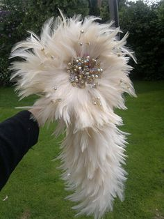 Stunning waterfall feather bouquet with diamante by FansiaTickle, £290.00