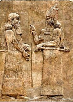 King Sargon II (right) and a high dignitary. Phrygian King Midas is believed to have been both an enemy and a friend to Sargon II. Bas-relief of the wall of the palace of Sargon II in Dur Sharrukin, Assyria. (716-713 BC.). Louvre, Paris. - See more at: http://www.ancient-origins.net/myths-legends/everything-he-touched-turned-gold-myth-and-reality-king-midas-004120?page=0%2C1#sthash.t0tAnm8V.dpuf