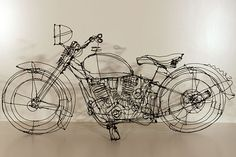 Wire sculpture... Motorbike