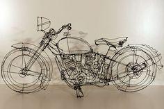Wire sculpture... Motorbike