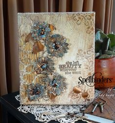 Romantic Blooms Mixed-Media Canvas | Spellbinders
