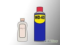 how to get rid of scratches on stainless steal fridge...baby oil and wd-40!!!