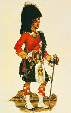 BRITISH ARMY - The Seaforth Highlanders by A.E. Haswell Miller
