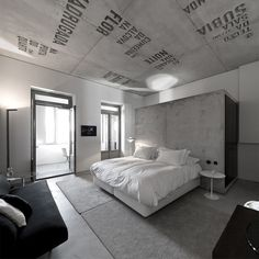 You're probably aware that a lot of modern and contemporary home interiors feature polished concrete floors. Design Industrial, Industrial House, Plafond Design, Porto Portugal, Hotel Room Design, Hotel Concept, Polished Concrete, Interior Photography, Atrium