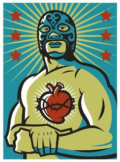 Shop Corazon Latino Poster created by alderete. Personalize it with photos & text or purchase as is! Mexican Graphic Design, Mexican Designs, Mexican Wrestler, Mexican Folk Art, Chicano, Belle Photo, Urban Art, Illustrations Posters, Pop Art