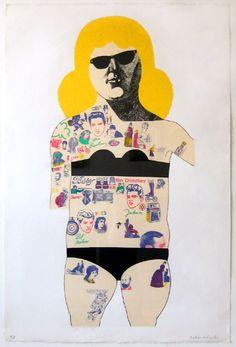 Peter Blake, Tattooed Lady via Typographic Tattoo, Peter Blake, Lonely Heart, Art Uk, Cultura Pop, Photomontage, All Art, Art History, Pop Culture