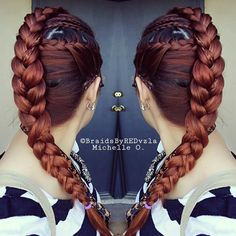 combination of braids 3D French into Dutch Braid with Cornrows and a side French Braid.