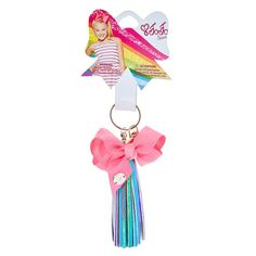 JoJo Siwa Iridescent Tassel Keyring With Pink Bow Jojo Siwa Bows, Jojo Bows, Jojo Siwa Outfits, Jojo Siwa Birthday, Princess Girl, Tassel Keychain, Making Hair Bows, Big Bows, Cute Pink