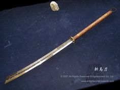 A blade made for a human or elf but with a clear orcish influence